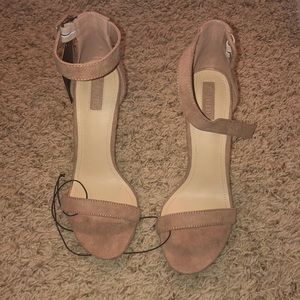 NWT Nude forever 21 strap heels